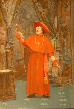 Jehan Georges Vibert Painting-Cardinal, Reading a Letter