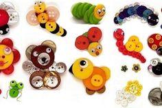 Plus de 40 modèles de petits personnages à bricoler avec des.... boutons!