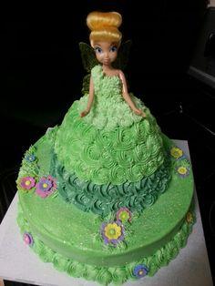 Tinkerbell princess cake