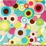 Kauffman Cuddle Balloon Party Aqua/Magenta Minky $13.98/yd