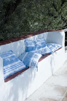 Outdoor cushions for the outdoor living space.