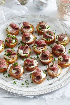 50 minutes · Serves up these bite-sized snacks to keep guests happy before the main event this festive season. Party Canapes, Appetizer Recipes, Snack Recipes, Christmas Roast, Easy Eat, Roast Dinner, Food Platters, Mini Foods, Appetisers