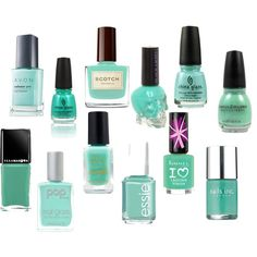 """""""mint nail polish"""" by irena77 on Polyvore"""