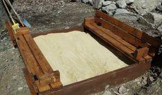 Sandbox with bench seats DIY!