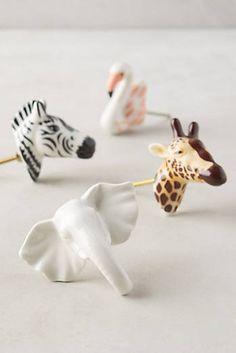 Cabinet knobs for Zelle's Airstream nook.  Ceramic Safari Knob