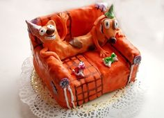 Catdog  Cake by chocotwiggs