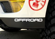 "Griben Car Decal #OFFROAD Lettering #Sticker 7.87"" Pair Sticker 50088 #Griben"