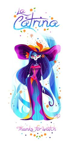 La Catrina, inspired on the awesome work of Jorge Gutierrez!! Did I say I love Día de Muertos' celebration? :)