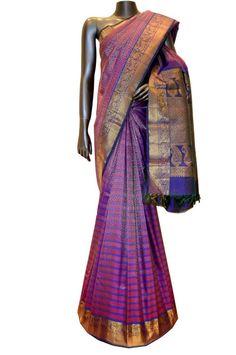 www.ethnicindian.in Kanchipuram-Silk-Sarees Exquisite-Designer-Bridal-Wear-Kanjeevaram-Silk-Saree-id-2892129.html