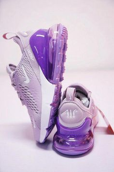 Women's Nike Air Max 270 Flyknit Light Purple White 510 Running Shoes Summer Sneakers - Source by Queenzxishoes - Purple Nike Shoes, Cute Nike Shoes, Purple Nikes, Nike Air Shoes, Purple Sneakers, Black Shoes, Hype Shoes, Women's Shoes, Me Too Shoes