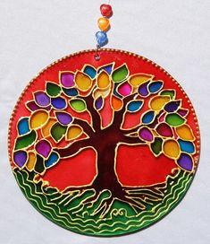 originalyexclusiva | MANDALAS Mandala Art, Mandala Design, Cd Crafts, Handmade Crafts, Arts And Crafts, Glass Painting Designs, Paint Designs, Dot Painting, Silk Painting
