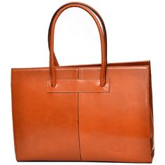 Sharo Apricot Italian Leather 16-inch Laptop Tote Bag (Apricot) ($152) ❤ liked on Polyvore featuring bags, handbags, tote bags, orange, genuine leather tote, laptop tote, leather tote, leather pouch and zippered tote bag