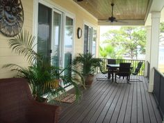 Southern, coastal porch on Ono Island, Alabama. #porch #coastal