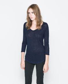 T-SHIRT EN LIN de Zara 19.95€