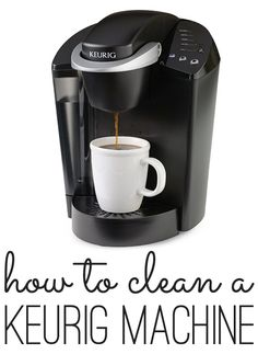 A step by step way for how to clean a Keurig coffee maker, without harsh chemicals and make your coffee taste even better.