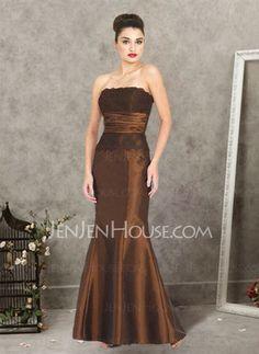 Bridesmaid Dresses - $92.99 - Nice Mermaid Strapless Floor-Length Taffeta  Lace Bridesmaid Dress with Ruffle  Lace (007001730) http://jenjenhouse.com/pinterest-g1730