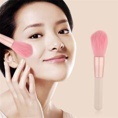 Sale Pink Hair Style Cosmetic Professional Foundation Blender Powder Makeup Blusher Brushes Make Beautiful Makeup