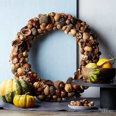 """""""How to Make a Natural Nut Wreath"""""""