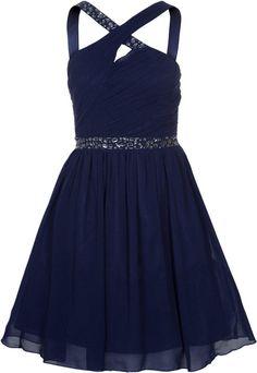Little Mistress Cocktailkleid Blaues festliches Kleid