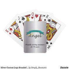 Silver Custom Logo Branded Cards