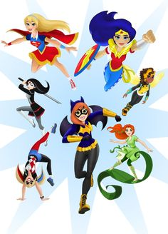DC Comics is launching DC Super Hero Girls, which features the young versions of female superheroes such as Wonder Woman and Batgirl. Super Hero High, Dc Super Hero Girls, Cartoon Cartoon, Character Drawing, Comic Character, Batgirl, Supergirl, Marvel Dc, Girls Season 4