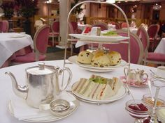 Tea at Harrods. We had tea there. Very posh!