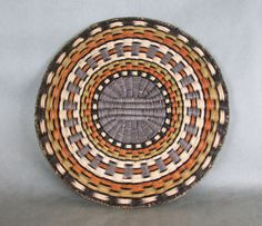 Very finely-woven old Hopi Third Mesa wicker basket | Sumac, rabbit brush and yucca leaves are used in the making of wicker baskets