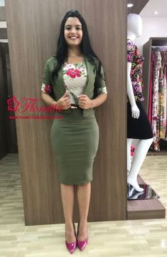 Floratta Fashions - Evangelical Fashion - The Lodge of Virtuous Woman Women With Beautiful Legs, Hobble Skirt, Virtuous Woman, Dress Clothes For Women, Work Chic, Fashion Poses, Beautiful Indian Actress, Modest Fashion, Well Dressed