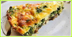 Crustless Spinach, Onion and Feta Quiche Smartpoints 4