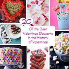 20 of the best Valentines Desserts in the history of Valentines-by Kati--Why not step it up this year and do something extra special for those you love?  Awesome!