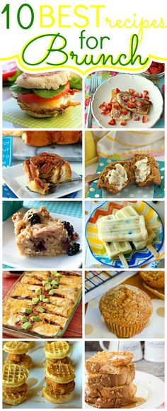 It's brunch season! To celebrate I've compiled a list of the 10 best brunch recipes!