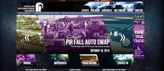 Portland International Raceway website redesign.