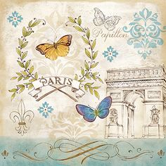 RB7408CC <br> Le Papillon Paris II <br> 12x12