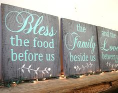 Bless The Food Before Us Wood Sign Dining Room Sign Kitchen Sign Wood Wall Art Wall Decor Rustic Chic Decor Wedding Gift Housewarming Gift