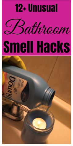 household hacks Ingenious tips and tricks for a better smelling bathroom. Homemade Cleaning Supplies, Diy Home Cleaning, Bathroom Cleaning Hacks, Laundry Hacks, House Cleaning Tips, Cleaning Checklist, Car Cleaning, Bathroom Organization, Unusual Bathrooms
