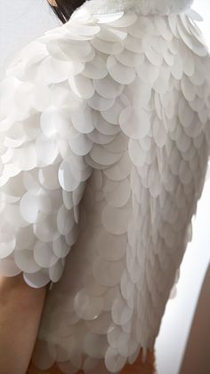 Textured Embellishment - sequinned jacket with white scale textures; fashion…