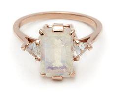the amazing anna sheffield - emerald cut moonstone