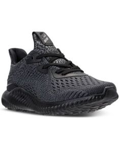 adidas Boys' Alpha Bounce Running Sneakers from Finish Line - Black