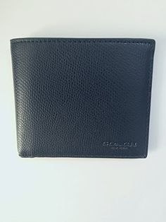 7cc56c7813a8c Coach-F75206-Mens-Crossgrain-Double-Billfold-Leather-Wallet-Black