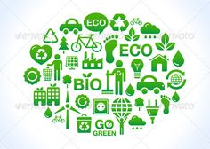 Eco world / clean planet icons set