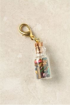Pebble-Filled Glass Bottle