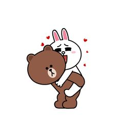 LINE's adorable couple Brown & Cony bring their delightful dating scenes to iMessage Cute Love Gif, Cute Love Memes, Love Is Sweet, Cute Couple Cartoon, Cute Love Cartoons, Line Brown Bear, Brown Line, Line Cony, Line Friends