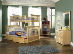 YBBCOLUMBIATWINFULLNM Columbia Collection Twin over Full Bunk Bed Natural Review Buy Now