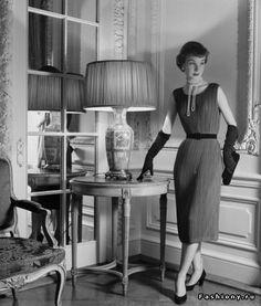 Мода 40-50-х годов на фото Нины Лин. платье