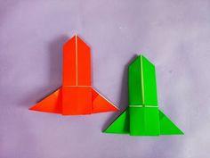 쉬운 로케트 종이접기 How to Make Easy Paper Origami Rocket - YouTube