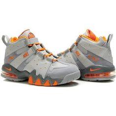 http://www.asneakers4u.com/ Charles Barkley Shoes   Nike Air Max2 CB 94 Gray/Orange
