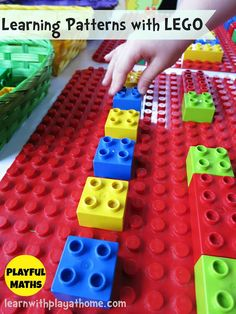This activity for preschool age children helps them begin to recognize and make patterns, an important early math skill.