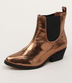 7b1bec7d54361 Boot This Bronze Metallic by Soles Shoe Box
