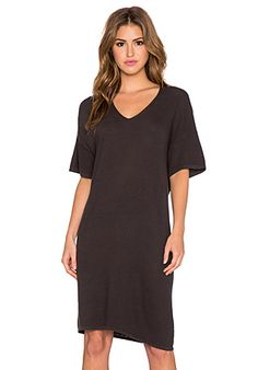 American Vintage Laki Haven T-Shirt Dress in Carbon | REVOLVE