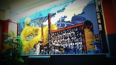 Mural Artwork at the Library in Leeds